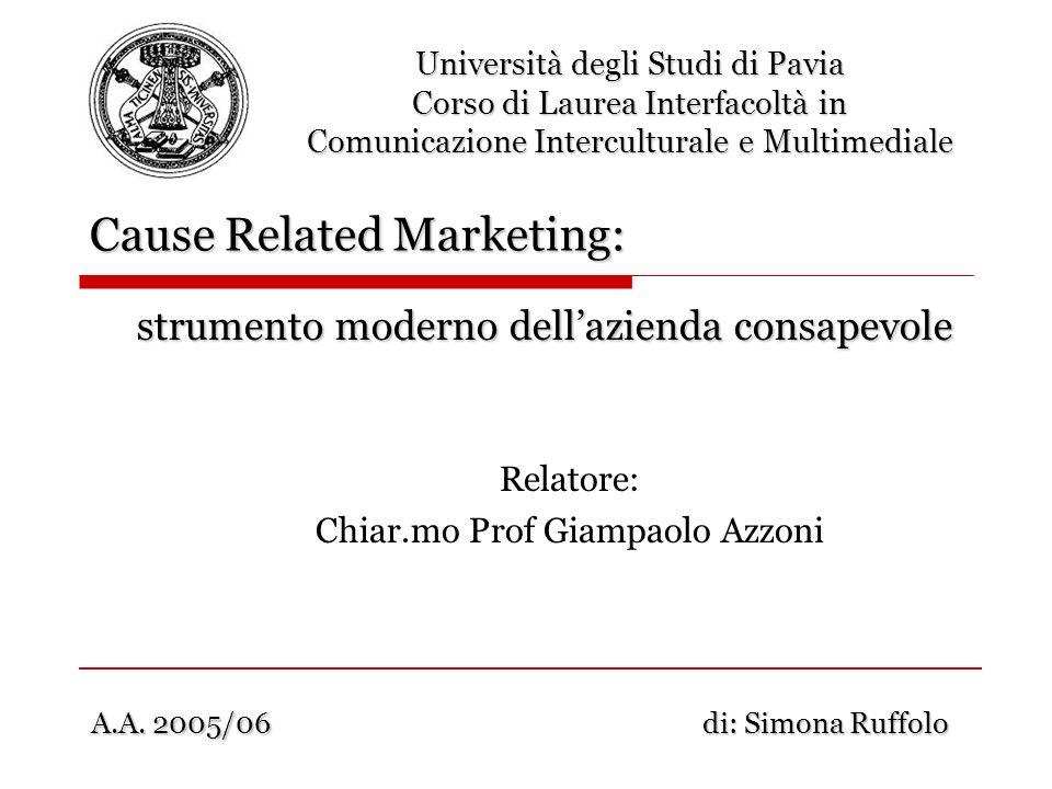 Relatore: Chiar.mo Prof Giampaolo Azzoni Università degli Studi di Pavia Corso di Laurea Interfacoltà in Comunicazione Interculturale e Multimediale C