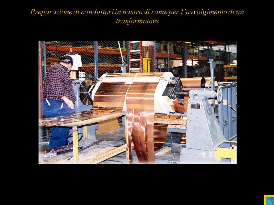 20 Preparazione di conduttori in nastro di rame per lavvolgimento di un trasformatore