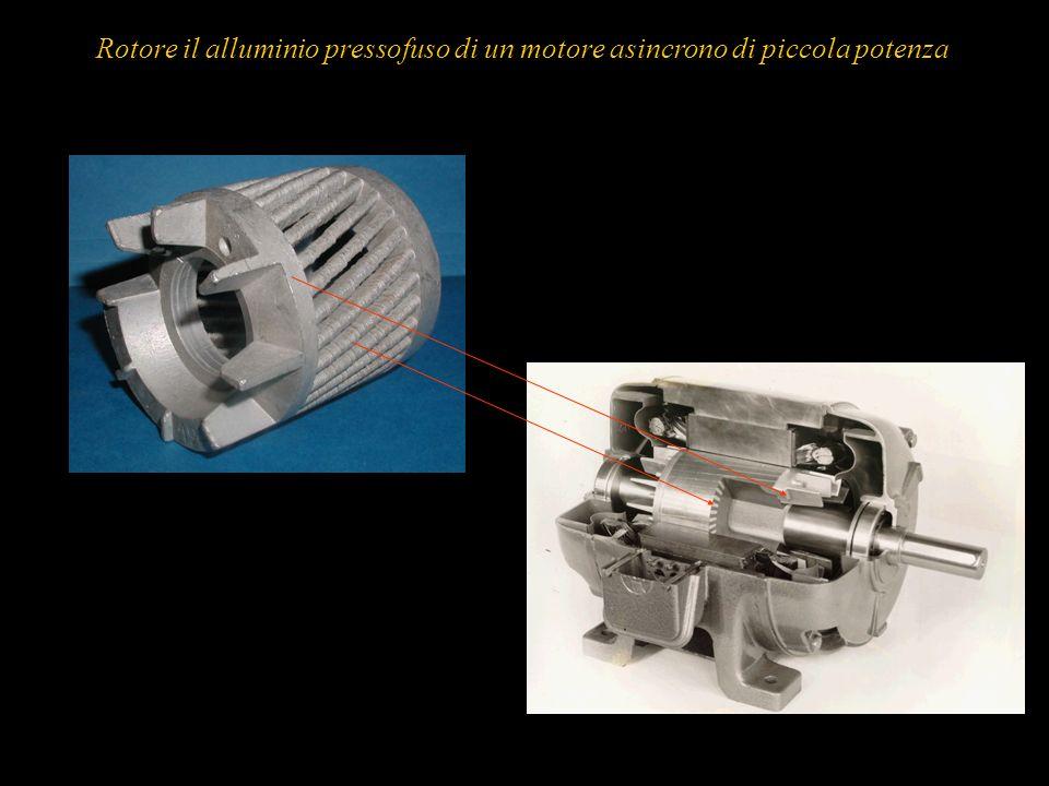 23 Rotore il alluminio pressofuso di un motore asincrono di piccola potenza