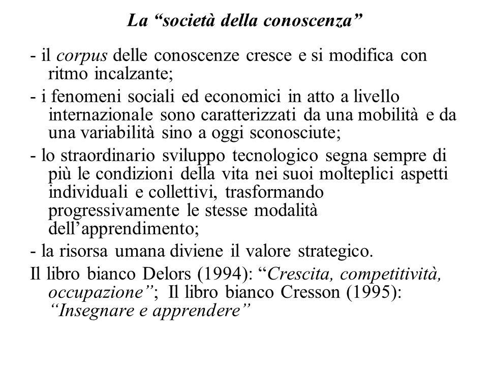 In Europa si discute della necessità di una riforma dei sistemi di istruzione e formazione La scuola italiana deve confrontarsi col contesto: -internazionale (indicatori insegnamento OCSE) -europeo (definizione di obiettivi comuni)