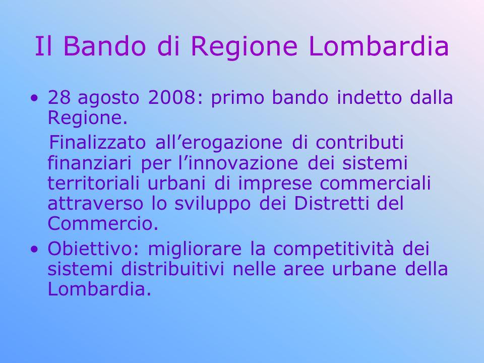 Il Bando di Regione Lombardia 28 agosto 2008: primo bando indetto dalla Regione. Finalizzato allerogazione di contributi finanziari per linnovazione d
