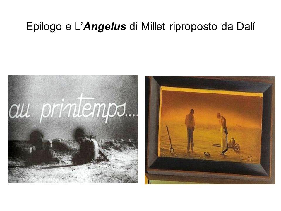 Epilogo e LAngelus di Millet riproposto da Dalí