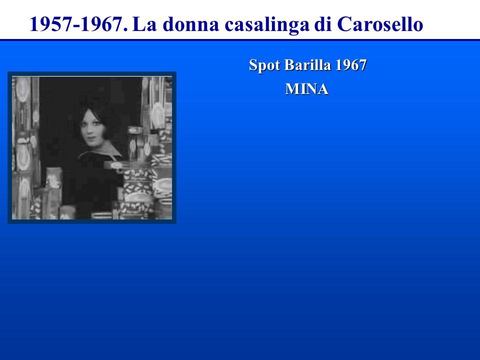 1957-1967. La donna casalinga di Carosello Spot Barilla1967 Spot Barilla 1967MINA