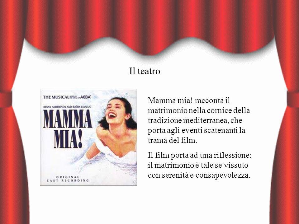 Il teatro Mamma mia! racconta il matrimonio nella cornice della tradizione mediterranea, che porta agli eventi scatenanti la trama del film. Il film p