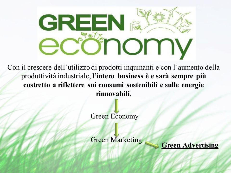 Con il crescere dellutilizzo di prodotti inquinanti e con laumento della produttività industriale, lintero business è e sarà sempre più costretto a riflettere sui consumi sostenibili e sulle energie rinnovabili.