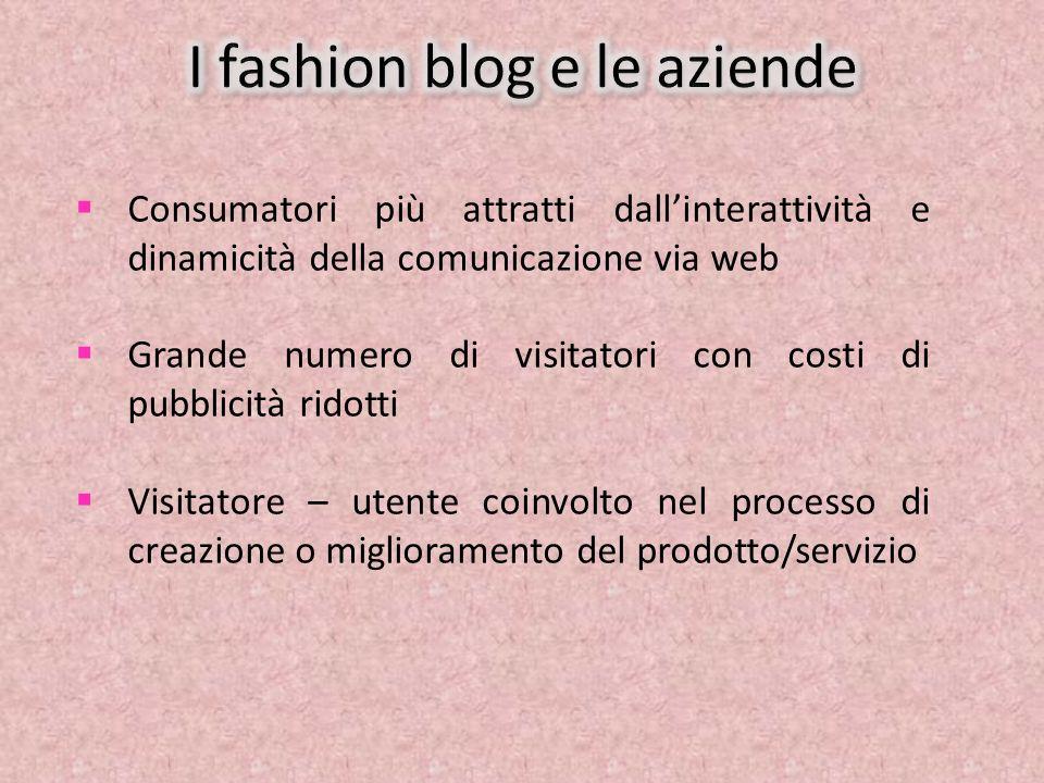 Chiara Ferragni, la fashion blogger più seguita del momento NellOttobre del 2008 creò il suo blog The Blonde Salad e in meno di due anni ha ricevuto 900.000 visite Collabora con alcune aziende tra cui: Dior, Furla, Guerlain, Kenzo, Diego Dalla Palma, Benetton … e tante altre