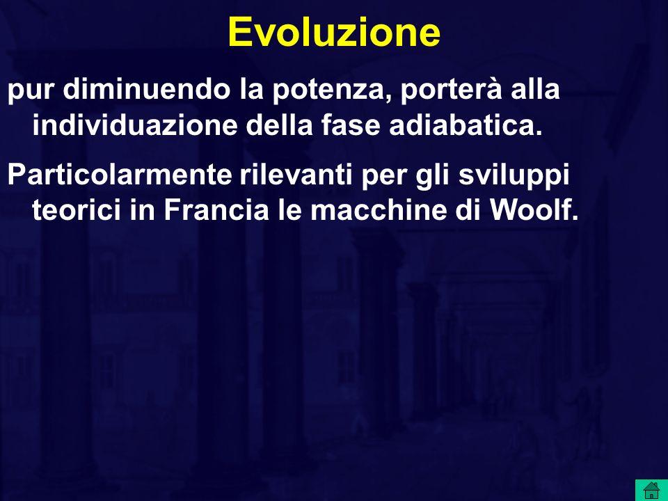 Evoluzione pur diminuendo la potenza, porterà alla individuazione della fase adiabatica. Particolarmente rilevanti per gli sviluppi teorici in Francia