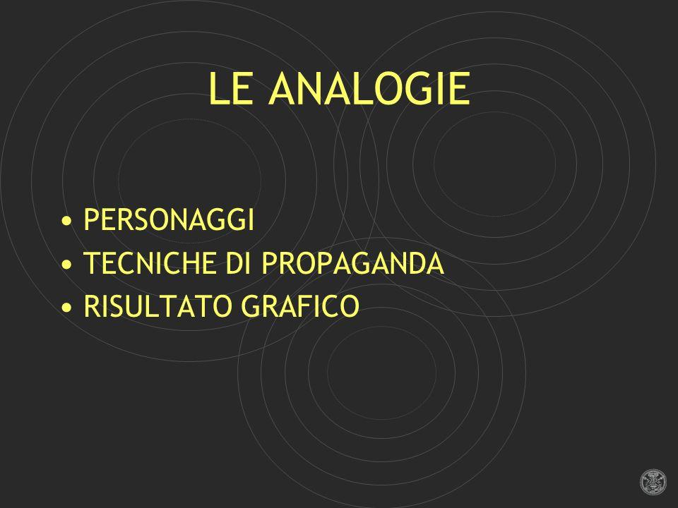 LE ANALOGIE PERSONAGGI TECNICHE DI PROPAGANDA RISULTATO GRAFICO