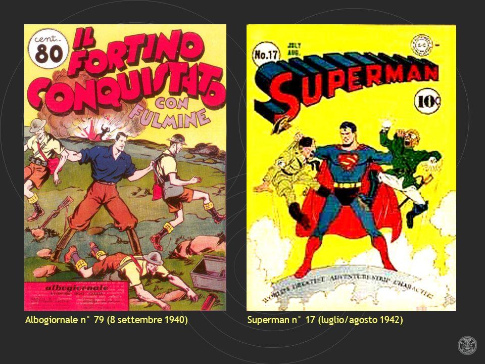 Albogiornale n° 79 (8 settembre 1940)Superman n° 17 (luglio/agosto 1942)