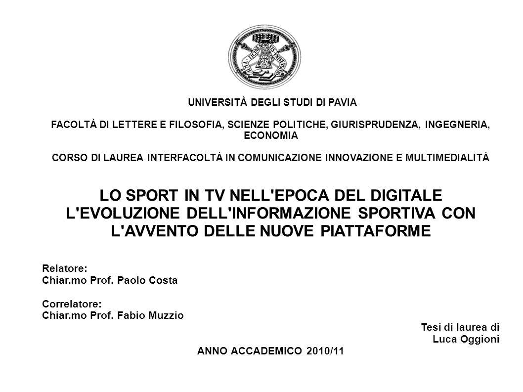 1954Anni 80 Anni 90 La nascita della tv e il monopolio Rai La concorrenza e la fine del monopolio Lavvento della pay TV 1.