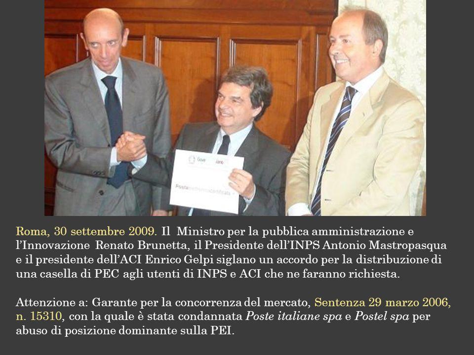 Roma, 30 settembre 2009.