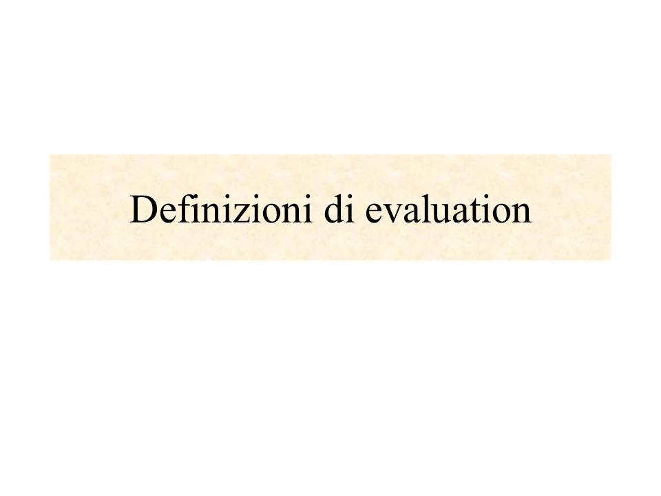 Definizioni di evaluation