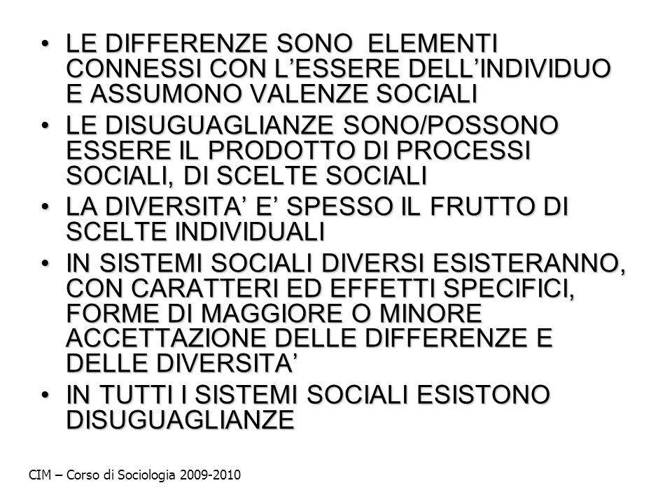 LE DIFFERENZE SONO ELEMENTI CONNESSI CON LESSERE DELLINDIVIDUO E ASSUMONO VALENZE SOCIALILE DIFFERENZE SONO ELEMENTI CONNESSI CON LESSERE DELLINDIVIDU