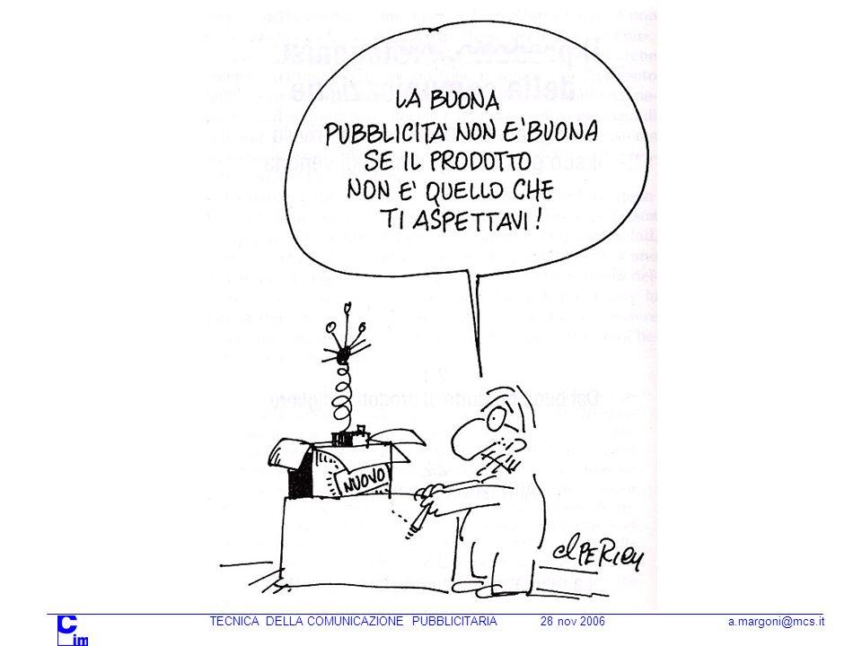 TECNICA DELLA COMUNICAZIONE PUBBLICITARIA 28 nov 2006 a.margoni@mcs.it