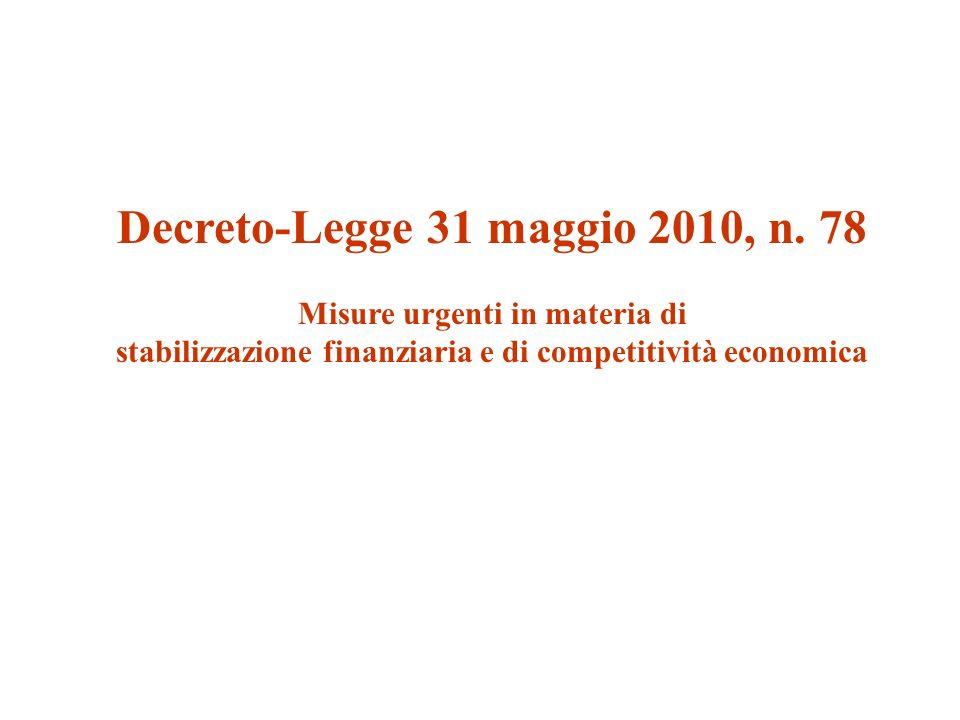 Decreto-Legge 31 maggio 2010, n.