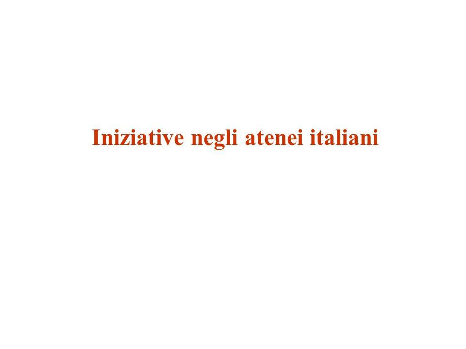 Iniziative negli atenei italiani