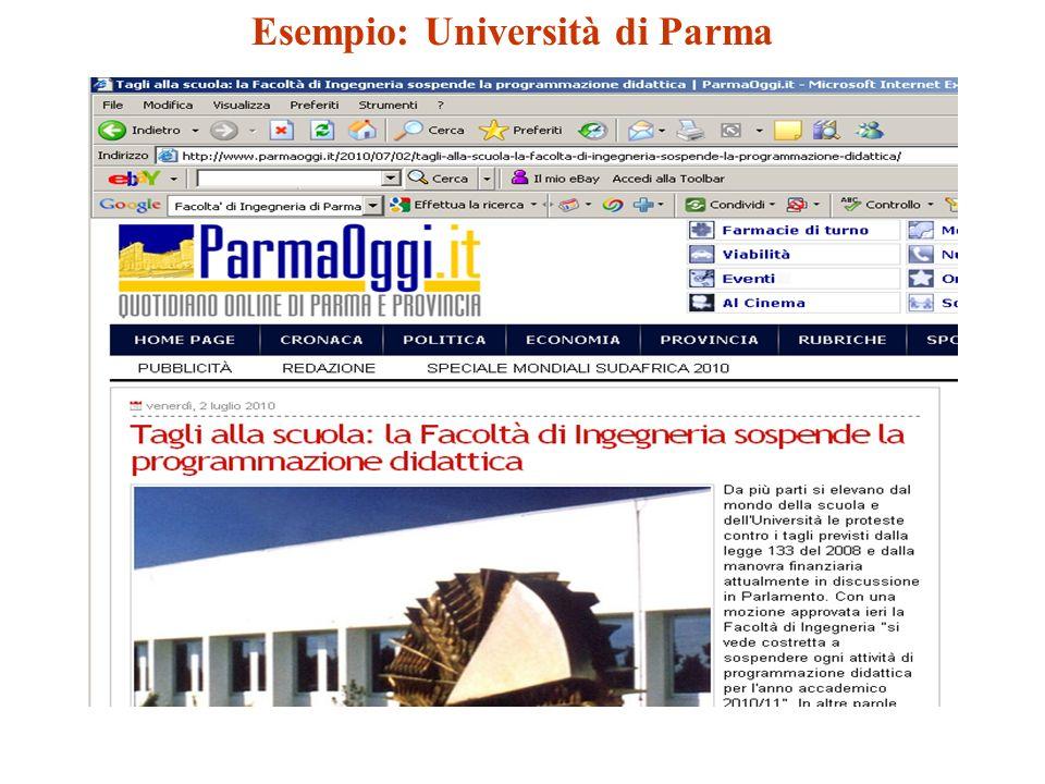Esempio: Università di Parma