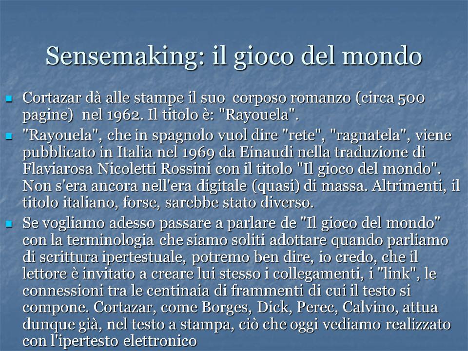 Sensemaking: il gioco del mondo Cortazar dà alle stampe il suo corposo romanzo (circa 500 pagine) nel 1962.