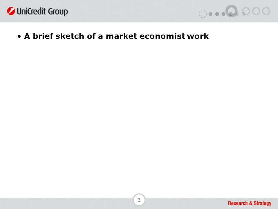 3 A brief sketch of a market economist work