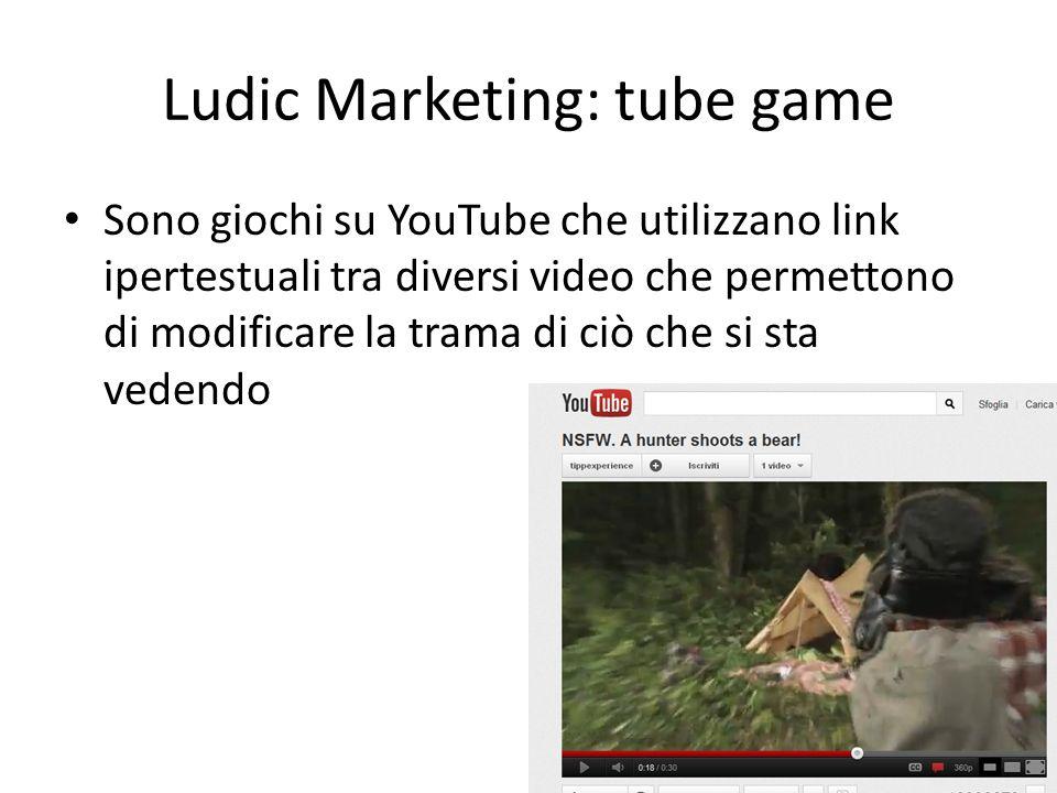 Sono giochi su YouTube che utilizzano link ipertestuali tra diversi video che permettono di modificare la trama di ciò che si sta vedendo Ludic Market