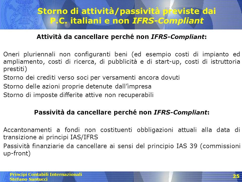 Principi Contabili Internazionali Stefano Santucci 26 Riclassificazioni di attività, passività e strumenti rappresentativi del P.