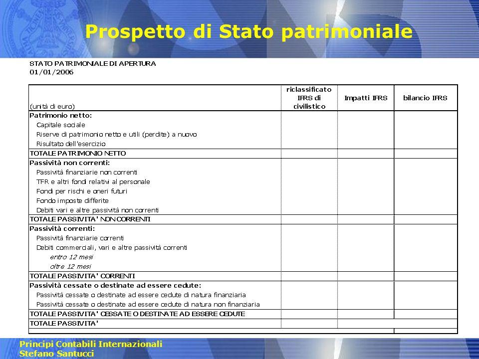 Principi Contabili Internazionali Stefano Santucci Prospetto di Conto economico