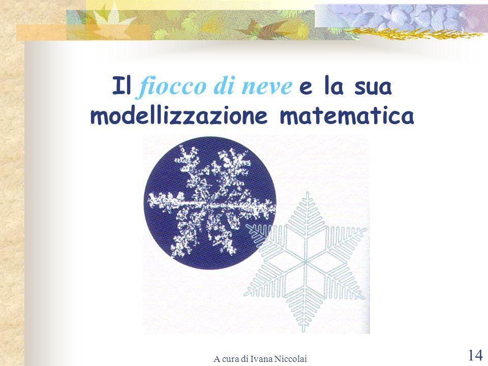 A cura di Ivana Niccolai 14 Il fiocco di neve e la sua modellizzazione matematica
