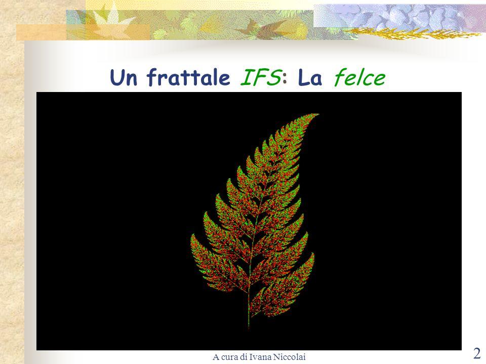 A cura di Ivana Niccolai 2 Un frattale IFS: La felce
