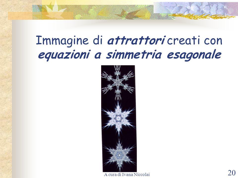 A cura di Ivana Niccolai 20 Immagine di attrattori creati con equazioni a simmetria esagonale