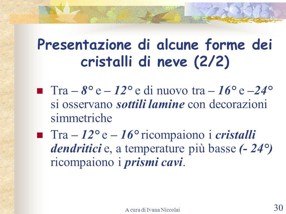 A cura di Ivana Niccolai 30 Tra – 8° e – 12° e di nuovo tra – 16° e –24° si osservano sottili lamine con decorazioni simmetriche Tra – 12° e – 16° ric