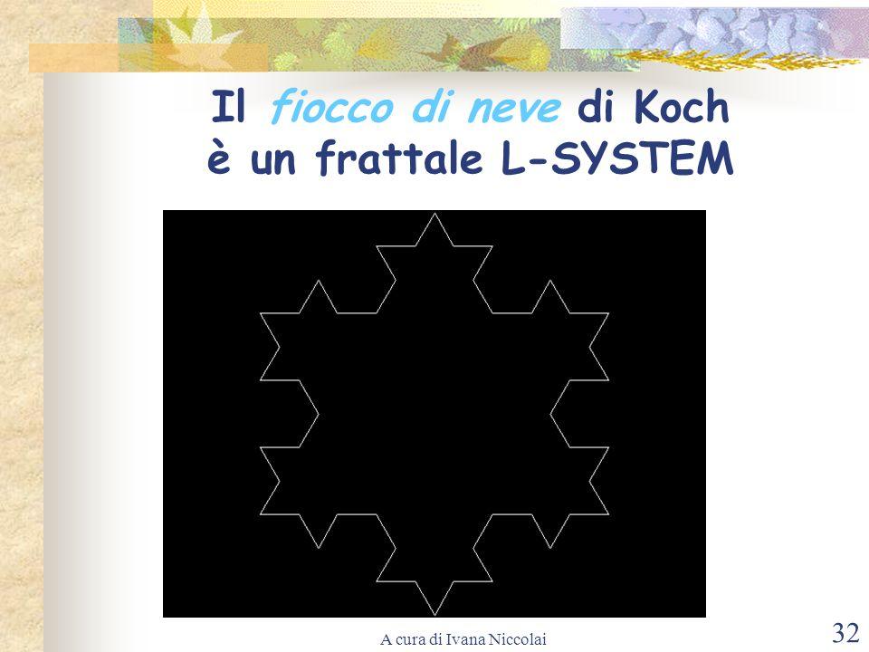 A cura di Ivana Niccolai 32 Il fiocco di neve di Koch è un frattale L-SYSTEM