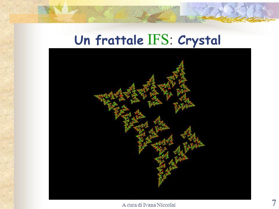 A cura di Ivana Niccolai 7 Un frattale IFS: Crystal