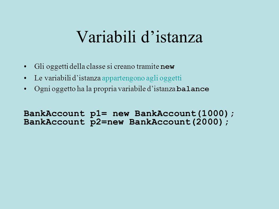 Variabili e Metodi Statici: come si accede.