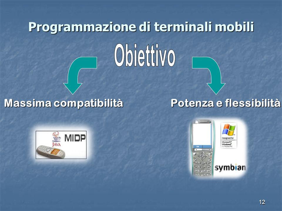 12 Programmazione di terminali mobili Massima compatibilità Potenza e flessibilità