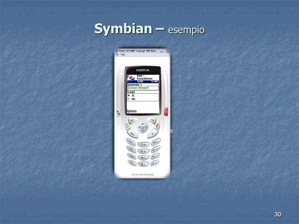 30 Symbian – esempio