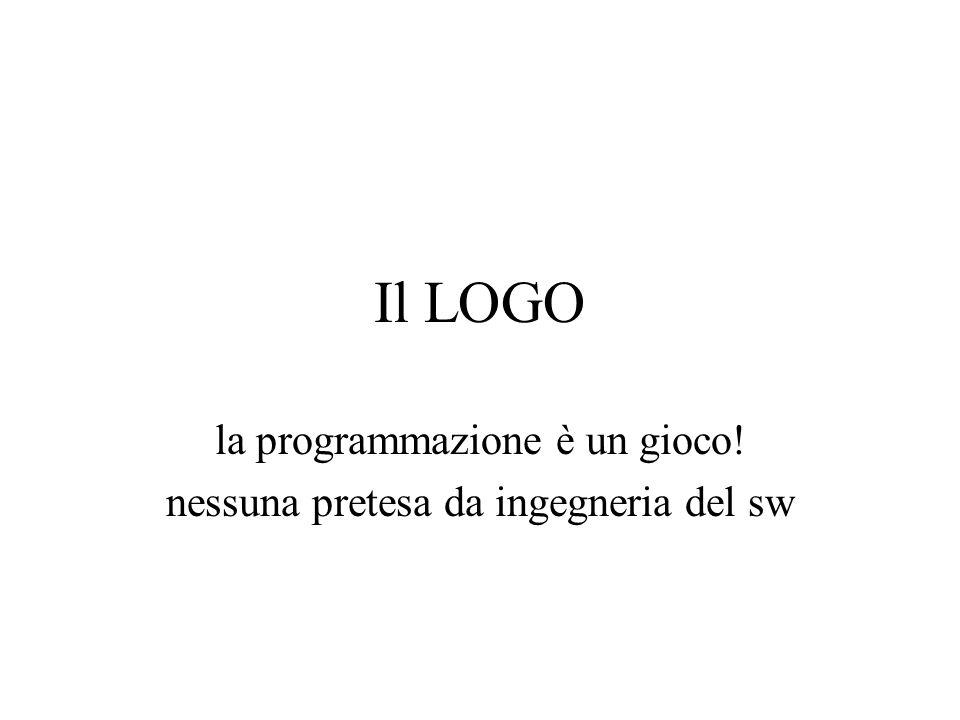 Il LOGO la programmazione è un gioco! nessuna pretesa da ingegneria del sw