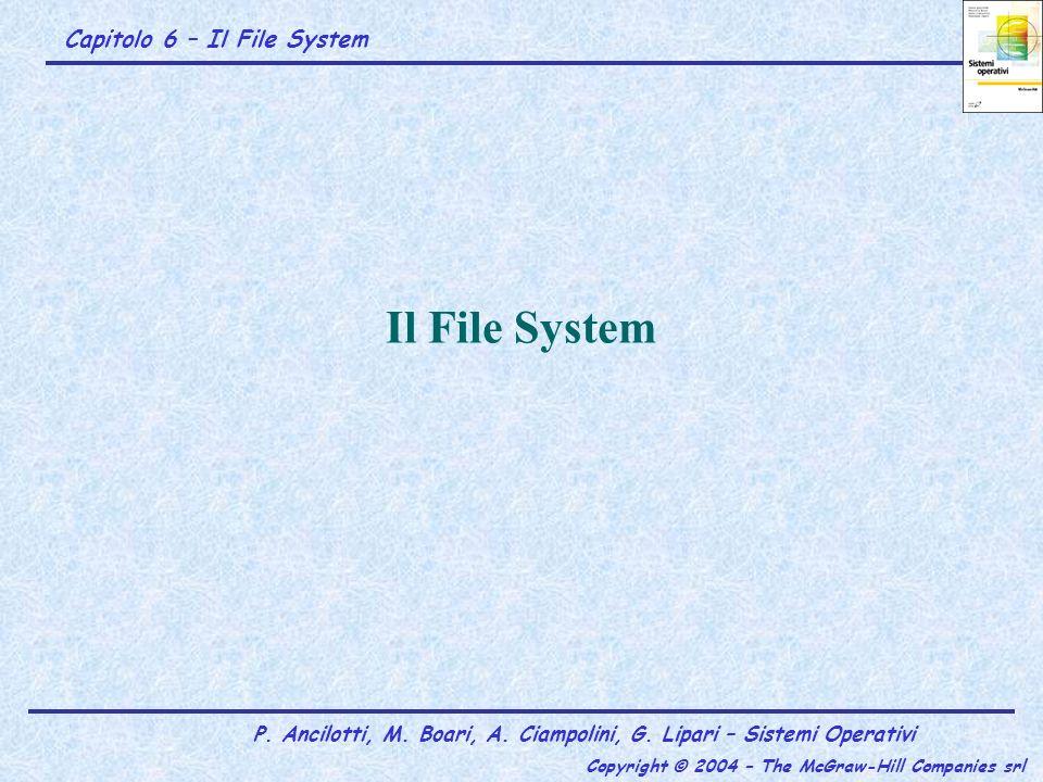 Indirizzamento dei blocchi tramite i-node e blocchi indiretti: esempio Ipotesi 1: si deve eseguire loperazione read(fd,&buf,1) quando lo I/O pointer ha valore 12.298 Il carattere 12.298 è contenuto nel BloccoLogico=12.298 div 2^10= 12.