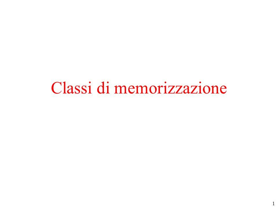 1 Classi di memorizzazione