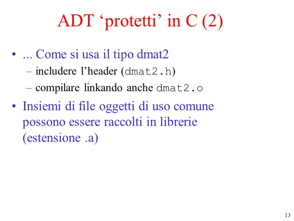13 ADT protetti in C (2)...