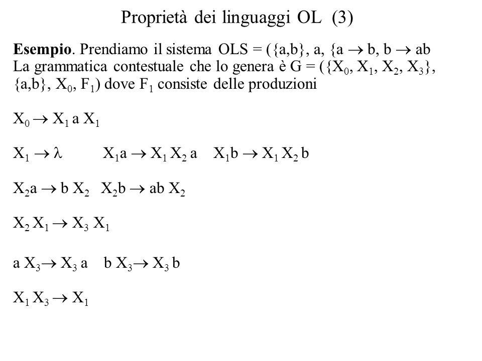 Proprietà dei linguaggi OL (3) Esempio.