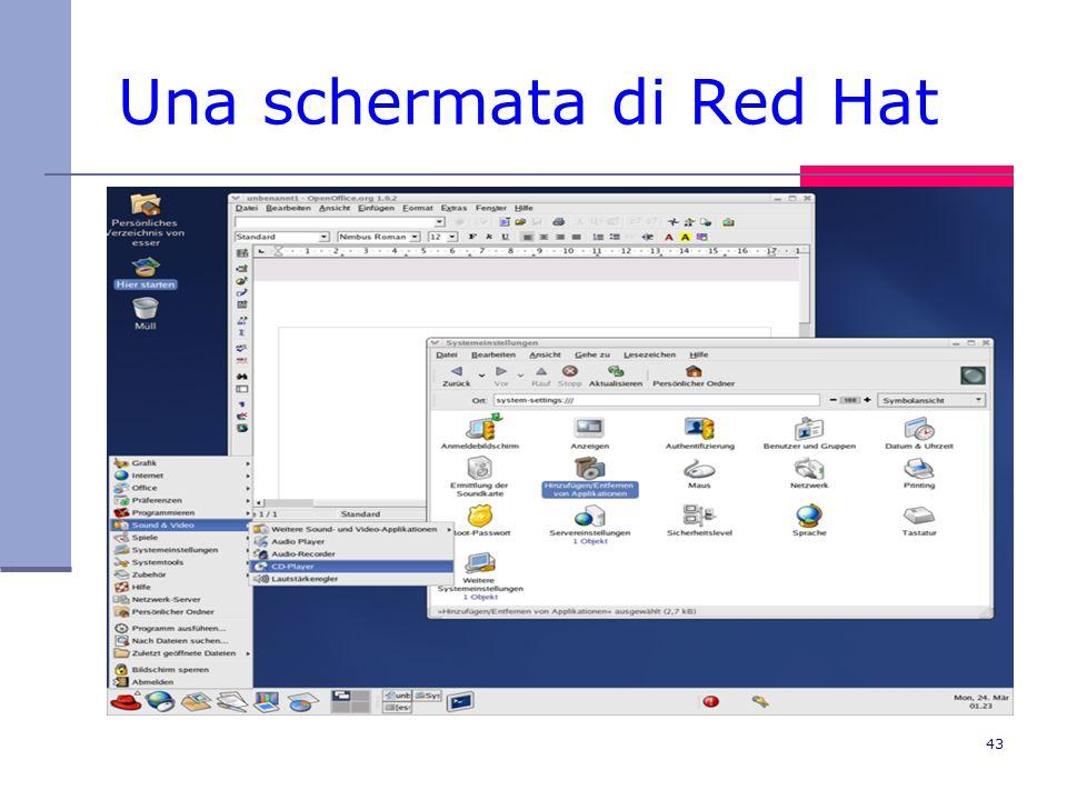 43 Una schermata di Red Hat