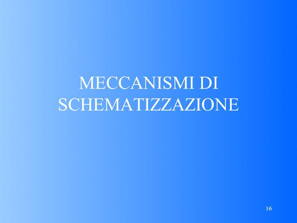 16 MECCANISMI DI SCHEMATIZZAZIONE
