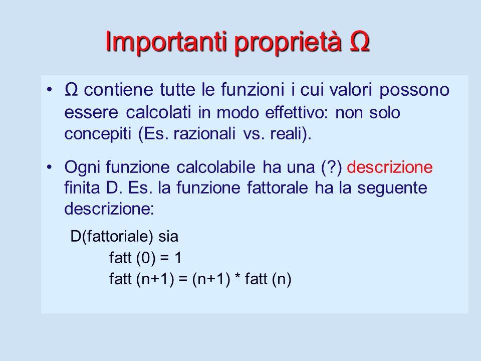 Funzioni calcolabili Molto prima che venisse inventato il primo calcolatore, i matematici avevano definito il dominio delle funzioni calcolabili.