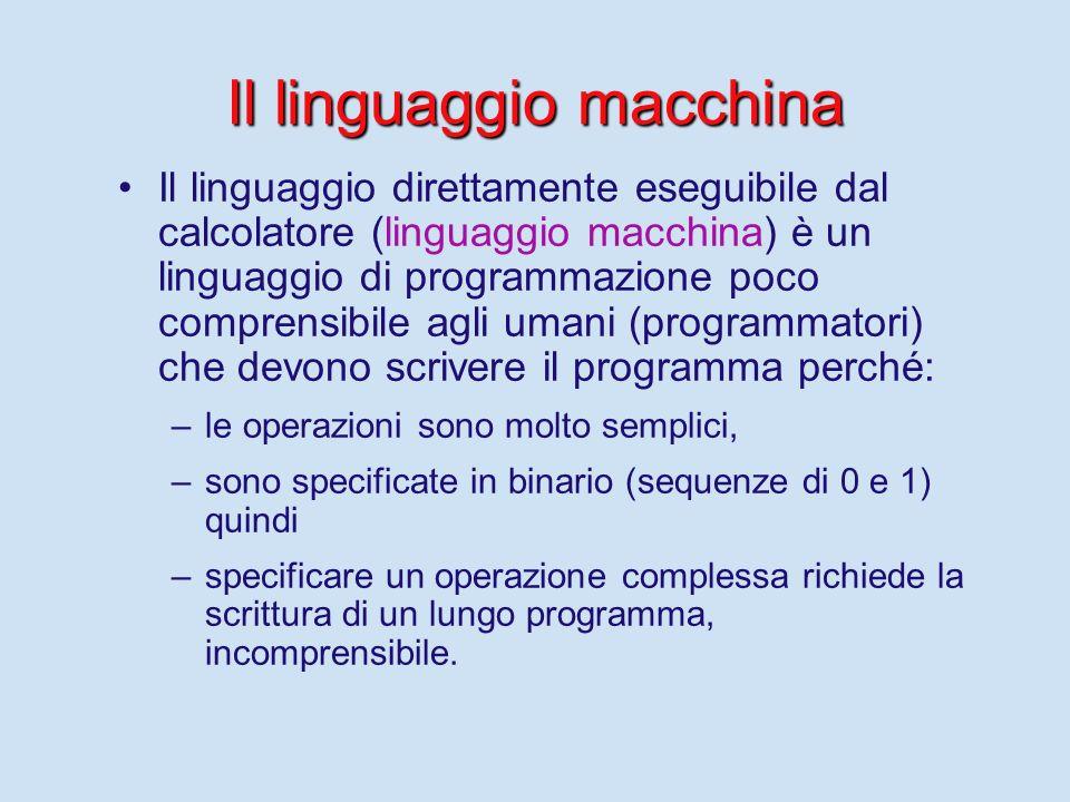 Linguaggi di programmazione I linguaggi di programmazione sono tutti equivalenti, nel senso che un programma nel linguaggio L1 (p(L1)) è traducibile in un altro programma nel linguaggio L2 (p(L2)), che calcola la stessa funzione.