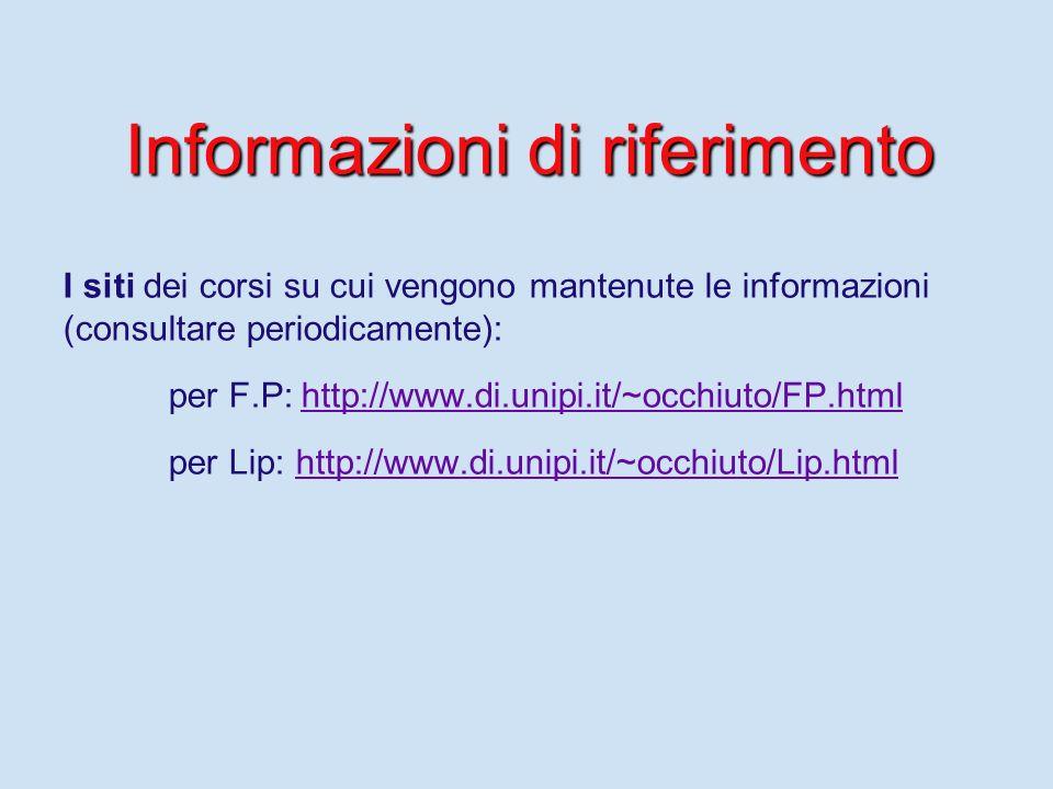 Modalità desame per Lip Verifiche Progetto Le verifiche: – –la prima nel periodo 5-7/11, – –la seconda nel periodo 19-21/12