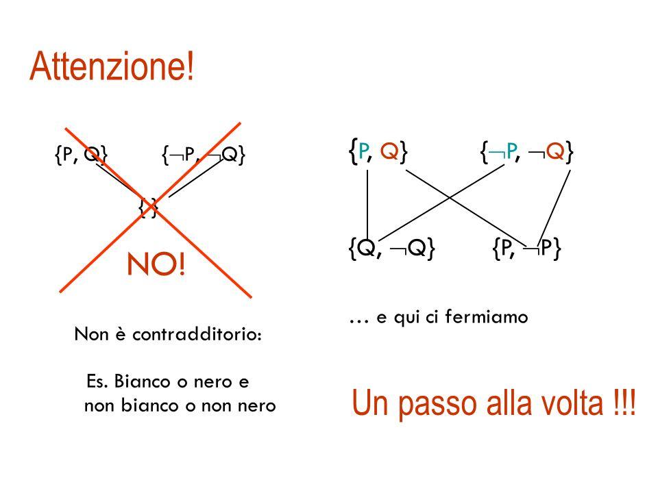 Il grafo di risoluzione { B 1,1, P 1,2, P 2,1 } { P 1,2, B 1,1 } { P 2,1, B 1,1 } { B 1,1 } {P 1,2, P 2,1, P 1,2 } { B 1,1, P 2,1, B 1,1 } { B 1,1, P