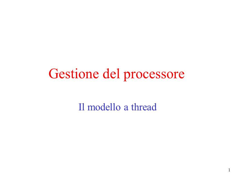 1 Gestione del processore Il modello a thread