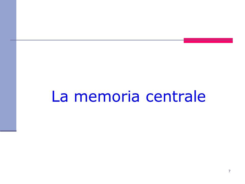 7 La memoria centrale