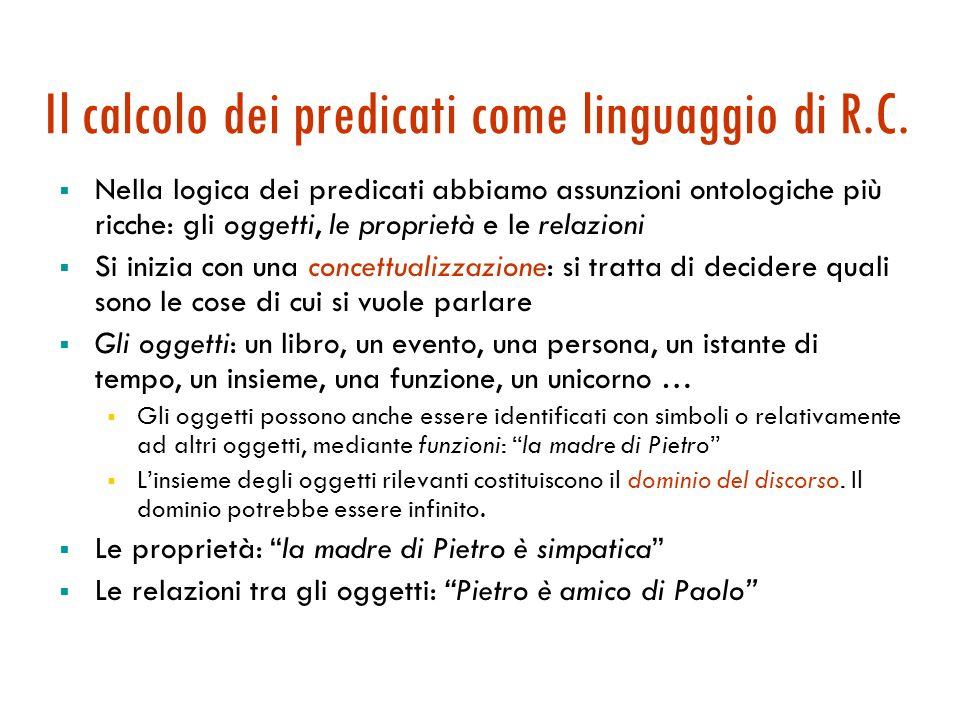 Agenti logici: la logica del primordine Sintassi, semantica, inferenza Maria Simi a.a. 2006-2007