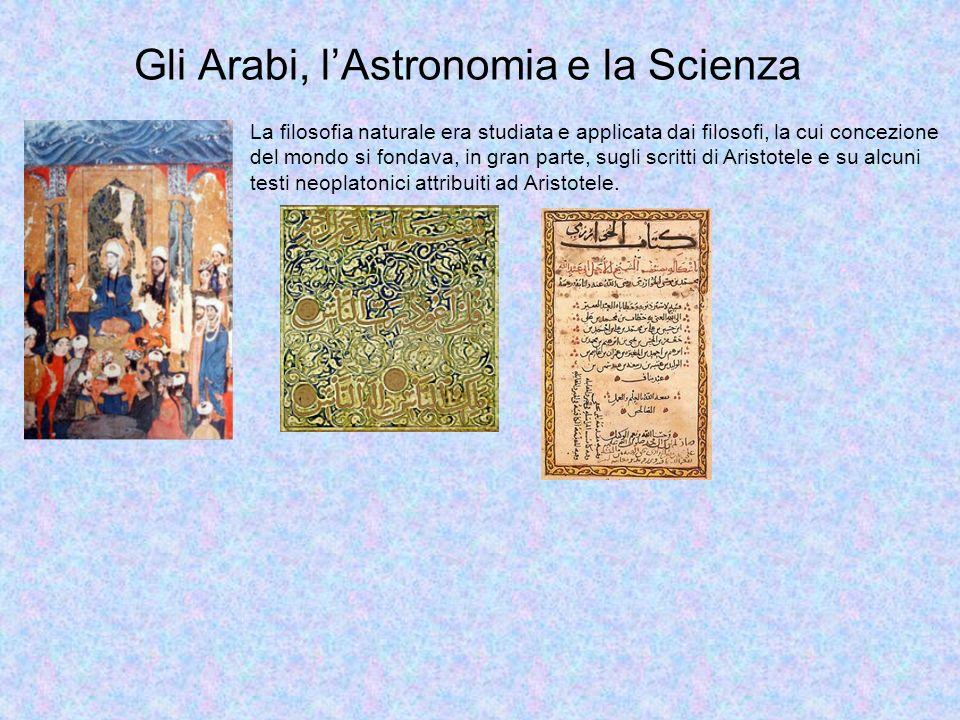 Gli Arabi, lAstronomia e la Scienza MOHAMMED BIN MUSA AL-KHAWARIZMI (770-840) Nato nell Uzbekistan e trasferitosi a Baghdad, fu uno dei più grandi matematici, avendo introdotto in questa scienza il concetto di algoritmo, che da lui prese il nome.